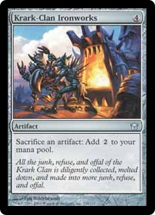 《クラーク族の鉄工所/Krark-Clan Ironworks》[5DN] 茶U