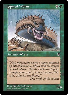 《針刺ワーム/Spined Wurm》[STH] 緑C