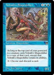 《ヴォルラスの多相の戦士/Volrath's Shapeshifter》[STH] 青R
