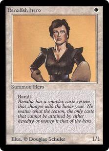 《ベナリアの勇士/Benalish Hero》[LEB] 白C