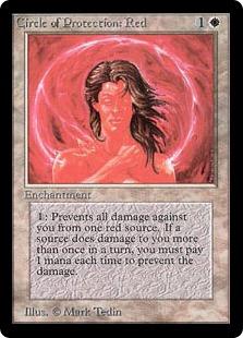 《赤の防御円/Circle of Protection: Red》[LEB] 白C