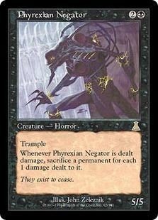 《ファイレクシアの抹殺者/Phyrexian Negator》[UDS] 黒R