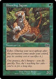 《飛びかかるジャガー/Pouncing Jaguar》[USG] 緑C