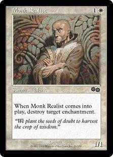 《現実主義の修道士/Monk Realist》[USG] 白C