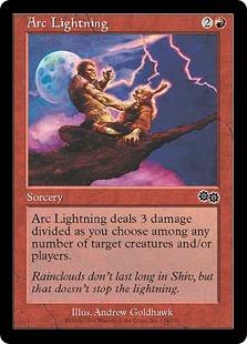 《弧状の稲妻/Arc Lightning》[USG] 赤C