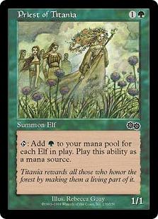 《ティタニアの僧侶/Priest of Titania》[USG] 緑C
