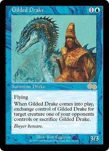《金粉のドレイク/Gilded Drake》[USG] 青R