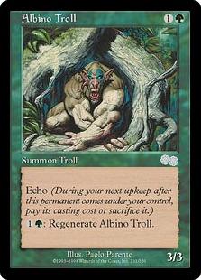《アルビノ・トロール/Albino Troll》[USG] 緑U