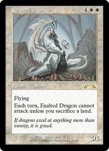 《高みのドラゴン/Exalted Dragon》[EXO] 白R