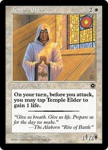 《寺院の長老/Temple Elder》[PO2] 白U