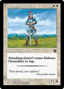 《アラボーンの擲弾兵/Alaborn Grenadier》[PO2] 白C
