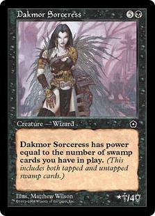 《ダクムーアの女魔術師/Dakmor Sorceress》[PO2] 黒R