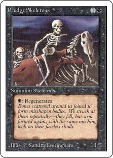 《蠢く骸骨/Drudge Skeletons》[2ED] 黒C