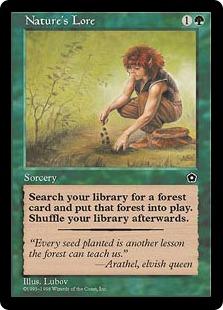 《自然の知識/Nature's Lore》[PO2] 緑C