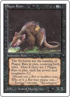 《疫病ネズミ/Plague Rats》[2ED] 黒C