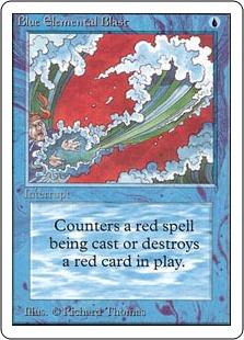 《青霊破/Blue Elemental Blast》[2ED] 青C