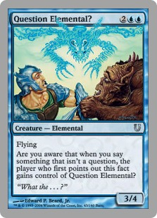 【Foil】《Question Elemental?》 青U