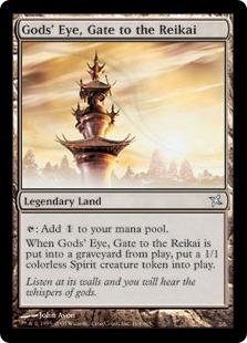 《霊界への門、神ヶ眼/Gods' Eye, Gate to the Reikai》[BOK] 土地U