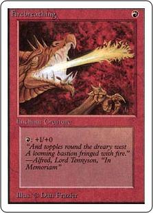 《炎のブレス/Firebreathing》[2ED] 赤C