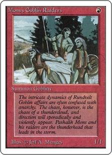 《モンスのゴブリン略奪隊/Mons's Goblin Raiders》[2ED] 赤C