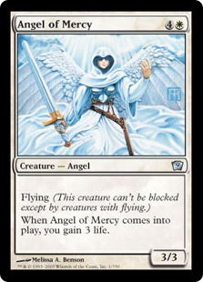 【Foil】《慈悲の天使/Angel of Mercy》[9ED] 白U