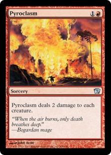 【Foil】《紅蓮地獄/Pyroclasm》[9ED] 赤U