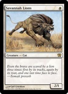 【Foil】《サバンナ・ライオン/Savannah Lions》[9ED] 白R