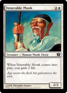 【Foil】《ありがたい老修道士/Venerable Monk》[9ED] 白C