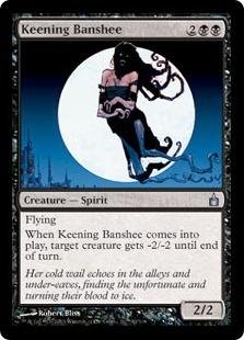 《叫び回るバンシー/Keening Banshee》[RAV] 黒U