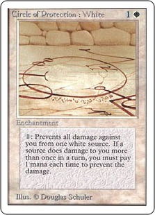 《白の防御円/Circle of Protection: White》[2ED] 白C