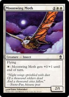 【Foil】《月翼の蛾/Moonwing Moth》[SOK] 白C