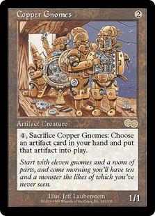 《銅のノーム/Copper Gnomes》[USG] 茶R