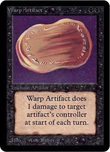 《歪んだ秘宝/Warp Artifact》[LEA] 黒R