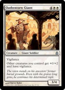 《誓いを立てた巨人/Oathsworn Giant》[RAV] 白U