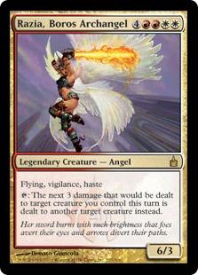 《ボロスの大天使、ラジア/Razia, Boros Archangel》[RAV] 金R