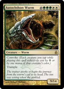 《土着のワーム/Autochthon Wurm》[RAV] 金R