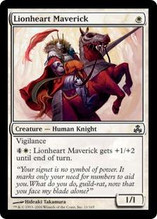 【Foil】《勇猛な反対派/Lionheart Maverick》[GPT] 白C