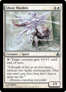 【Foil】《幽霊の管理人/Ghost Warden》[GPT] 白C