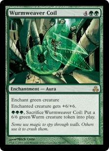 《ワーム編みのとぐろ/Wurmweaver Coil》[GPT] 緑R