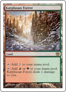 《カープルーザンの森/Karplusan Forest》[9ED] 土地R