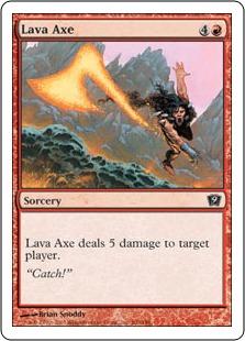 《溶岩の斧/Lava Axe》[9ED] 赤C