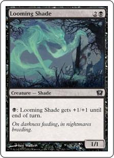 《立ちはだかる影/Looming Shade》[9ED] 黒C
