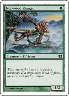 《ノーウッドのレインジャー/Norwood Ranger》[9ED] 緑C