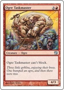 《オーガの監督官/Ogre Taskmaster》[9ED] 赤U