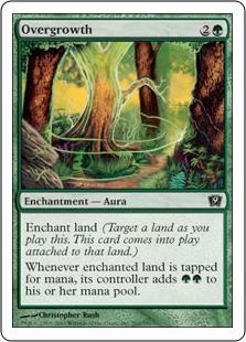 《はびこり/Overgrowth》[9ED] 緑C