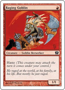 《怒り狂うゴブリン/Raging Goblin》[9ED] 赤C