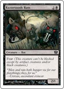 《カミソリネズミ/Razortooth Rats》[9ED] 黒C