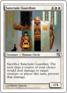 《聖域の守護者/Sanctum Guardian》[9ED] 白U