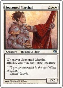 《歴戦の司令官/Seasoned Marshal》[9ED] 白U