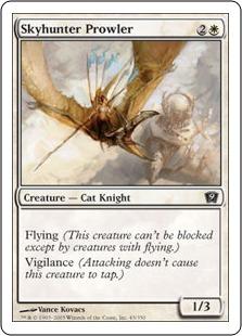 《うろつく空狩人/Skyhunter Prowler》[9ED] 白C